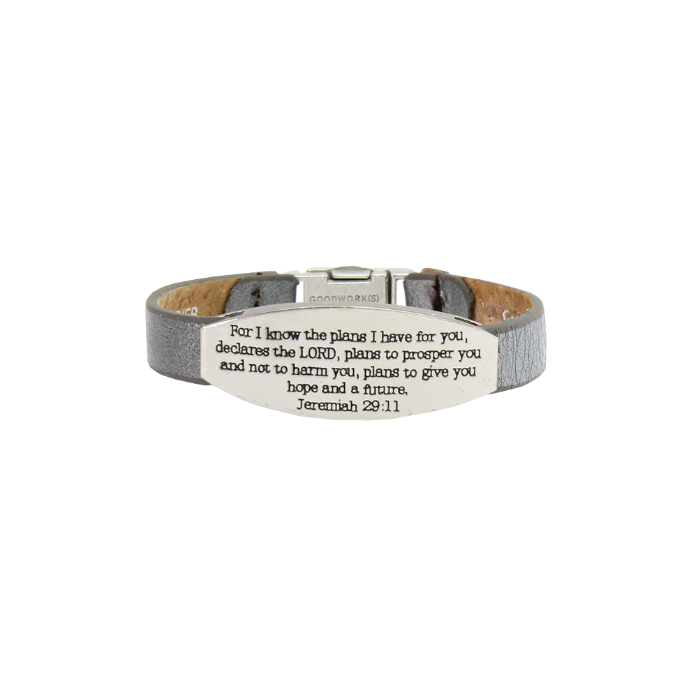 Good Works Jeremiah 29:11 Magnetic Clamp Bracelet