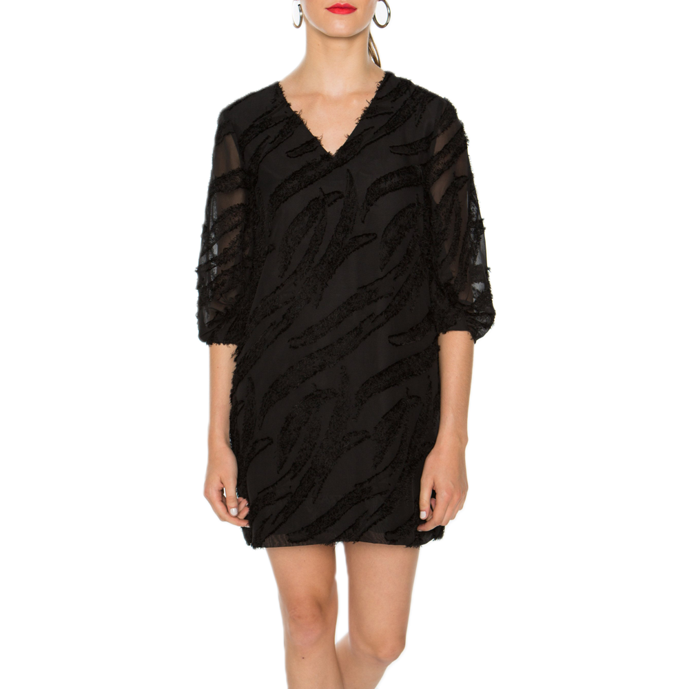 Crosby Ramey Dress in Black Whispy