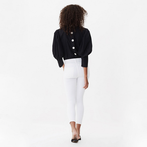 Womens Citizens of Humanity Rocket Crop High Rise Skinny in White Sculpt - Brother's on the Boulevard