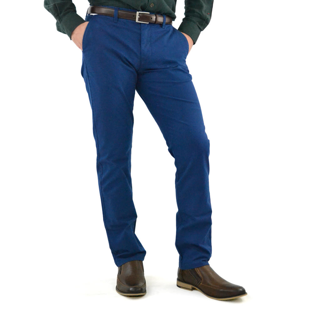 Mens Bonobos Stretched Washed Chino in Cobalt Blue - Brother's on the Boulevard