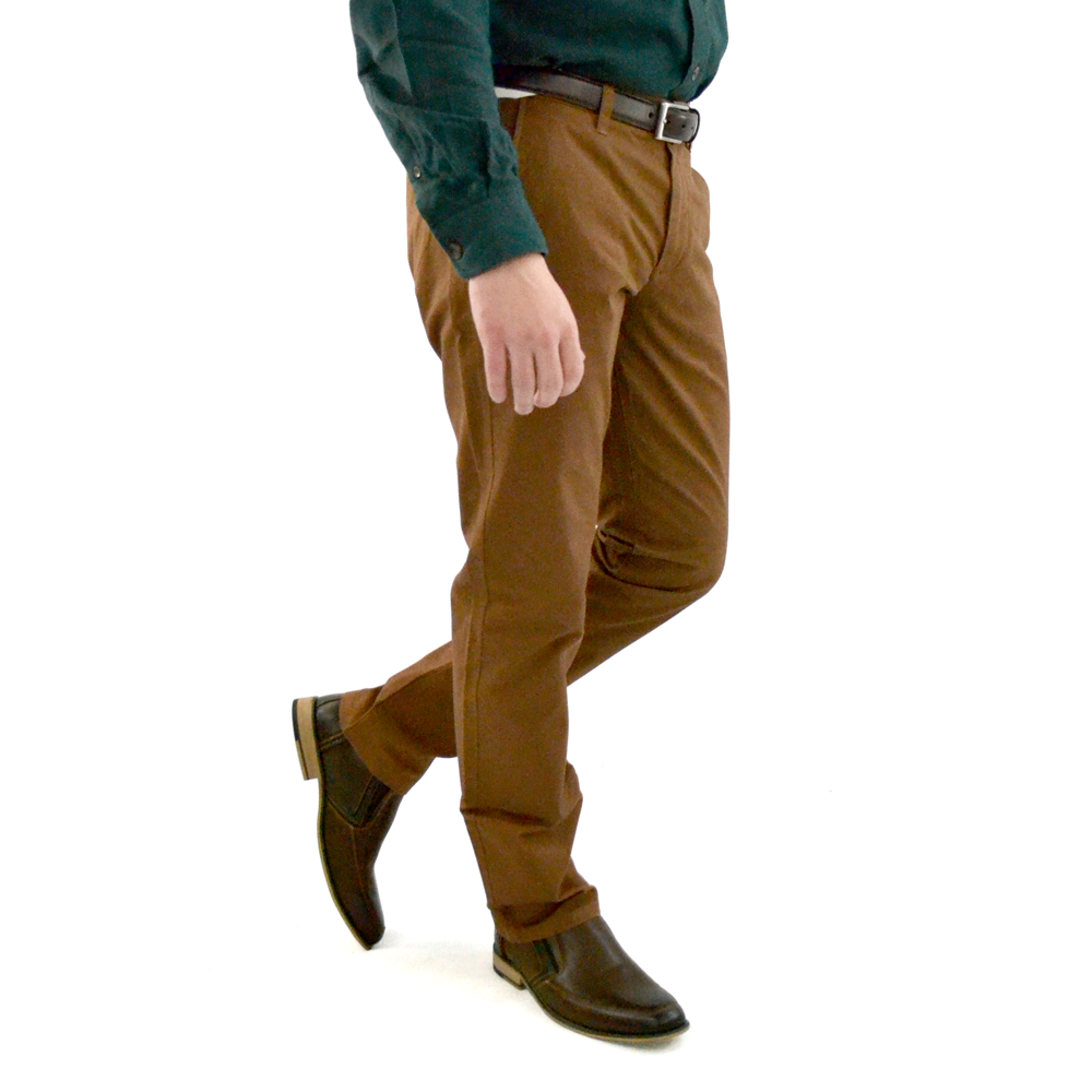 Mens Bonobos Stretched Washed Chino in Brown - Brother's on the Boulevard