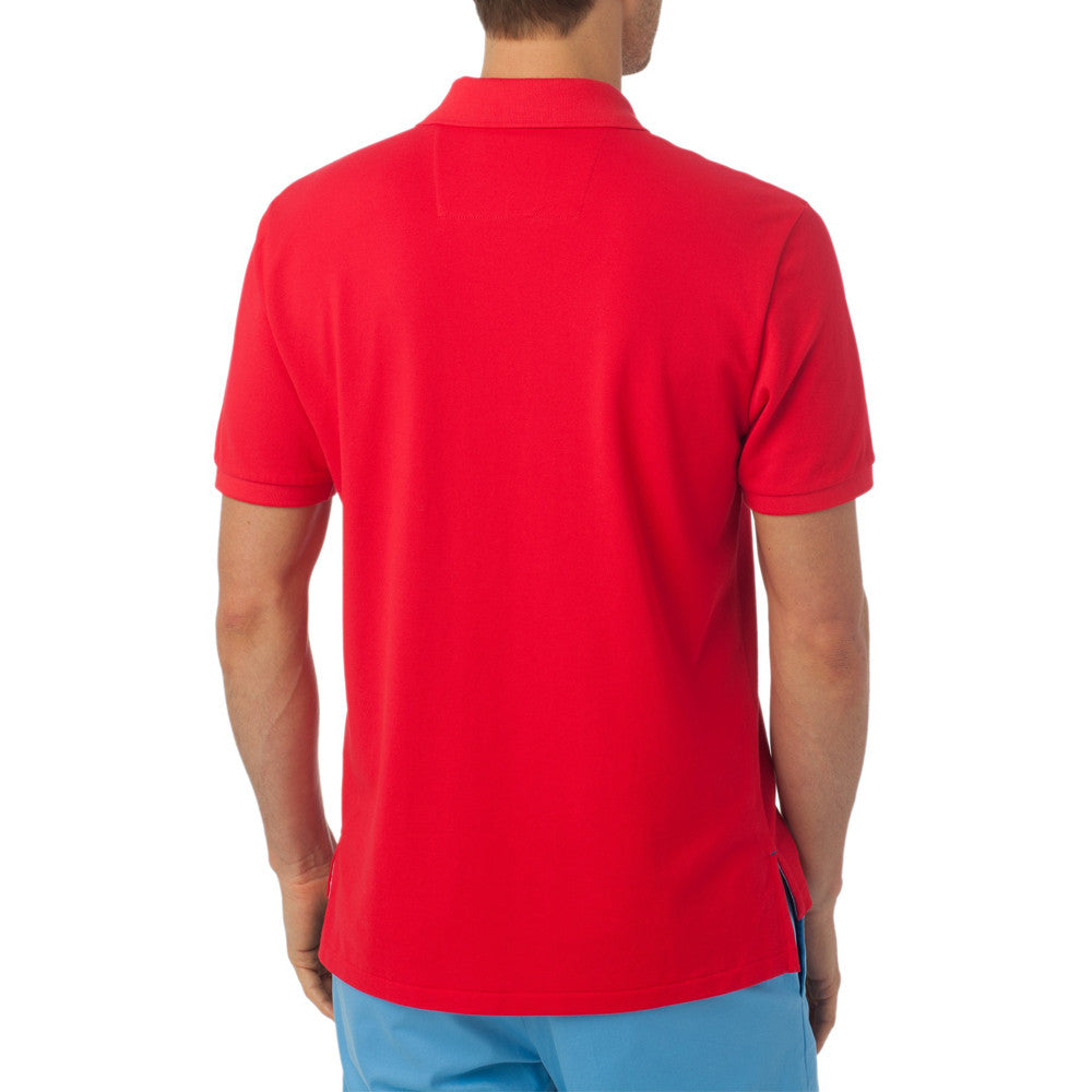 Mens Southern Tide Skipjack Polo in Channel Marker Red - Brother's on the Boulevard