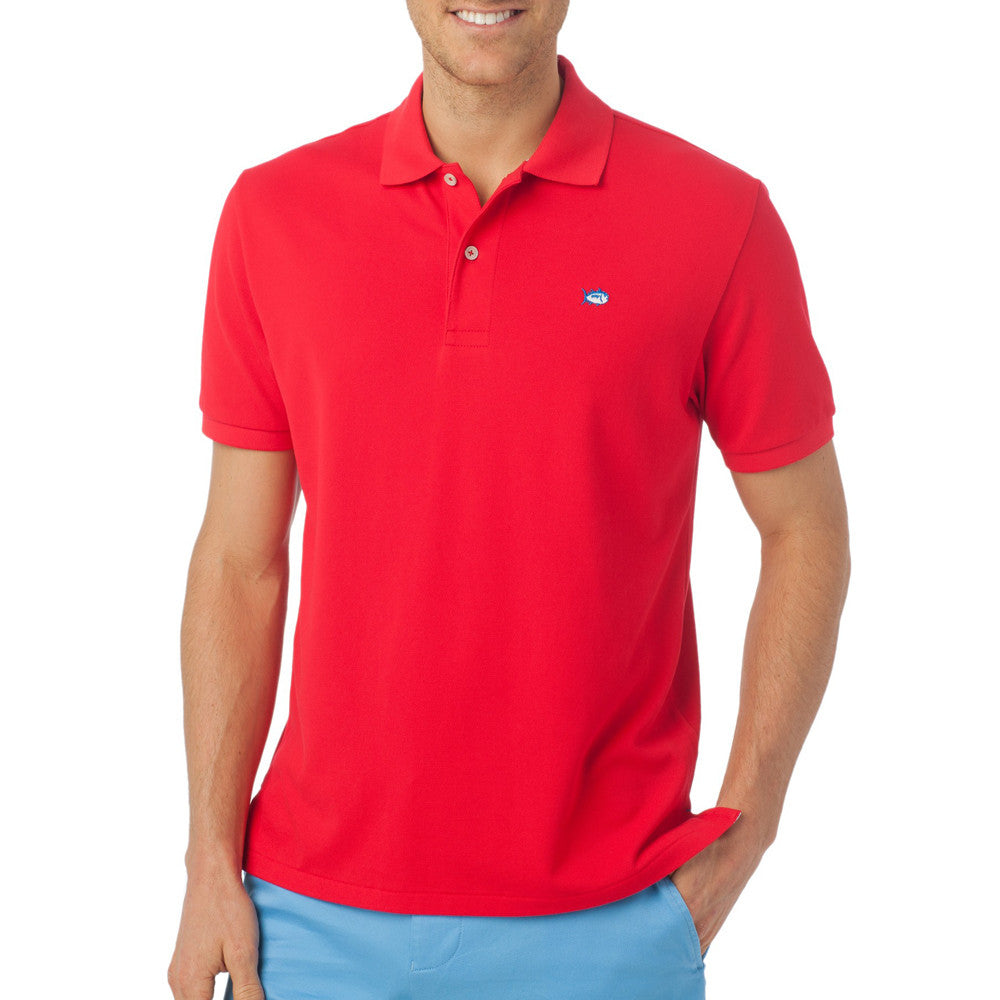 Southern Tide Skipjack Polo in Channel Marker Red