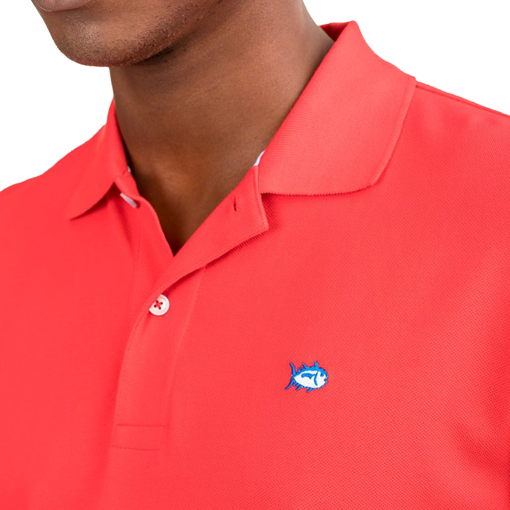 Mens Southern Tide Skip Jack Polo in Channel Marker Red - Brother's on the Boulevard