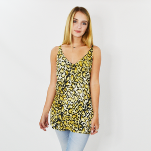 Womens Fifteen Twenty High Slit Cami in Leopard - Brother's on the Boulevard