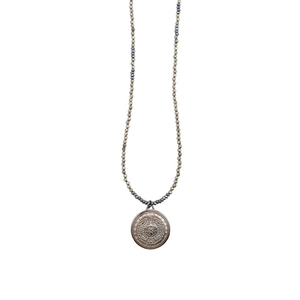Womens Nicole Leigh Rayna Pyrite Necklace in Gunmetal - Brother's on the Boulevard