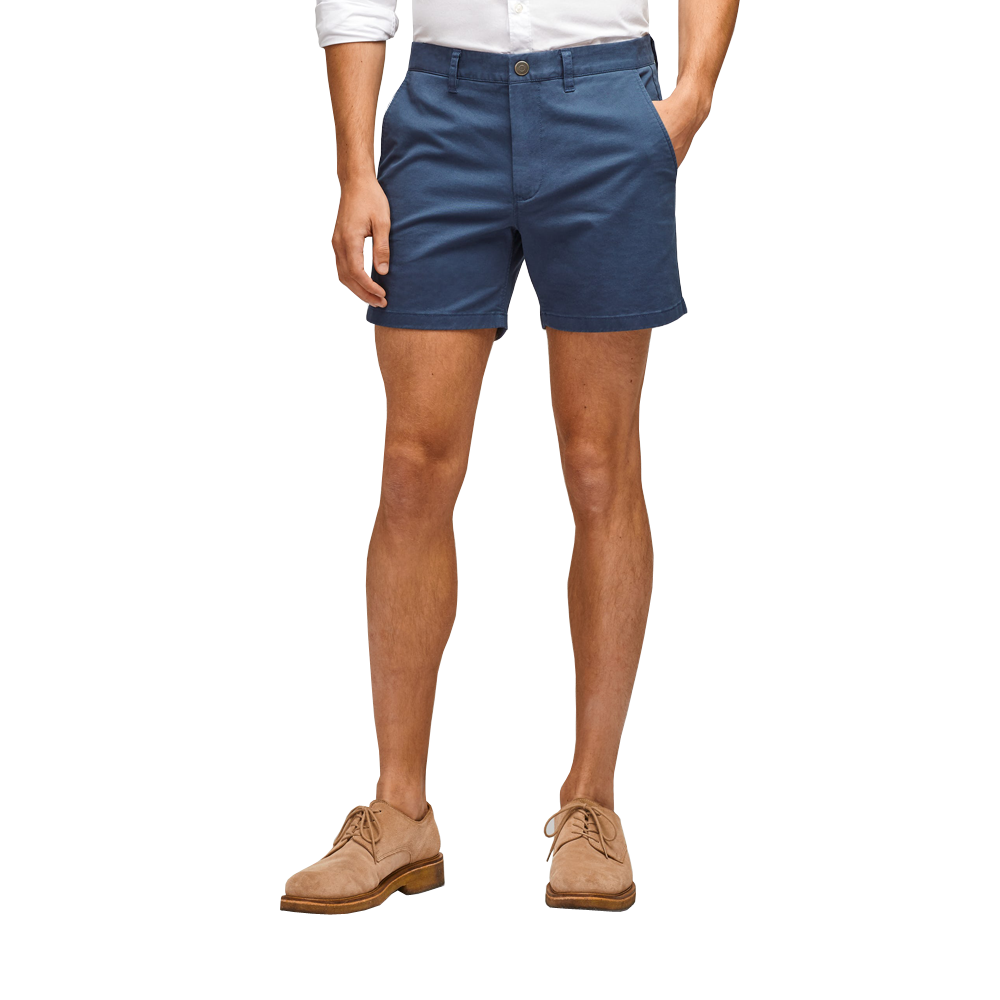 "Mens Bonobos Stretch Washed Chino 7"" Shorts in Faded Navy - Brother's on the Boulevard"