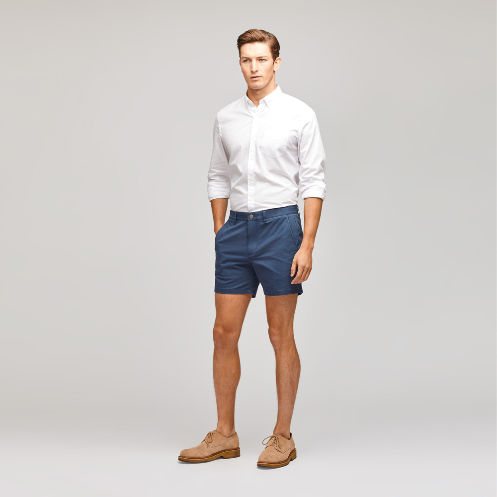 "Bonobos Stretch Washed Chino 7"" Shorts in Faded Navy"