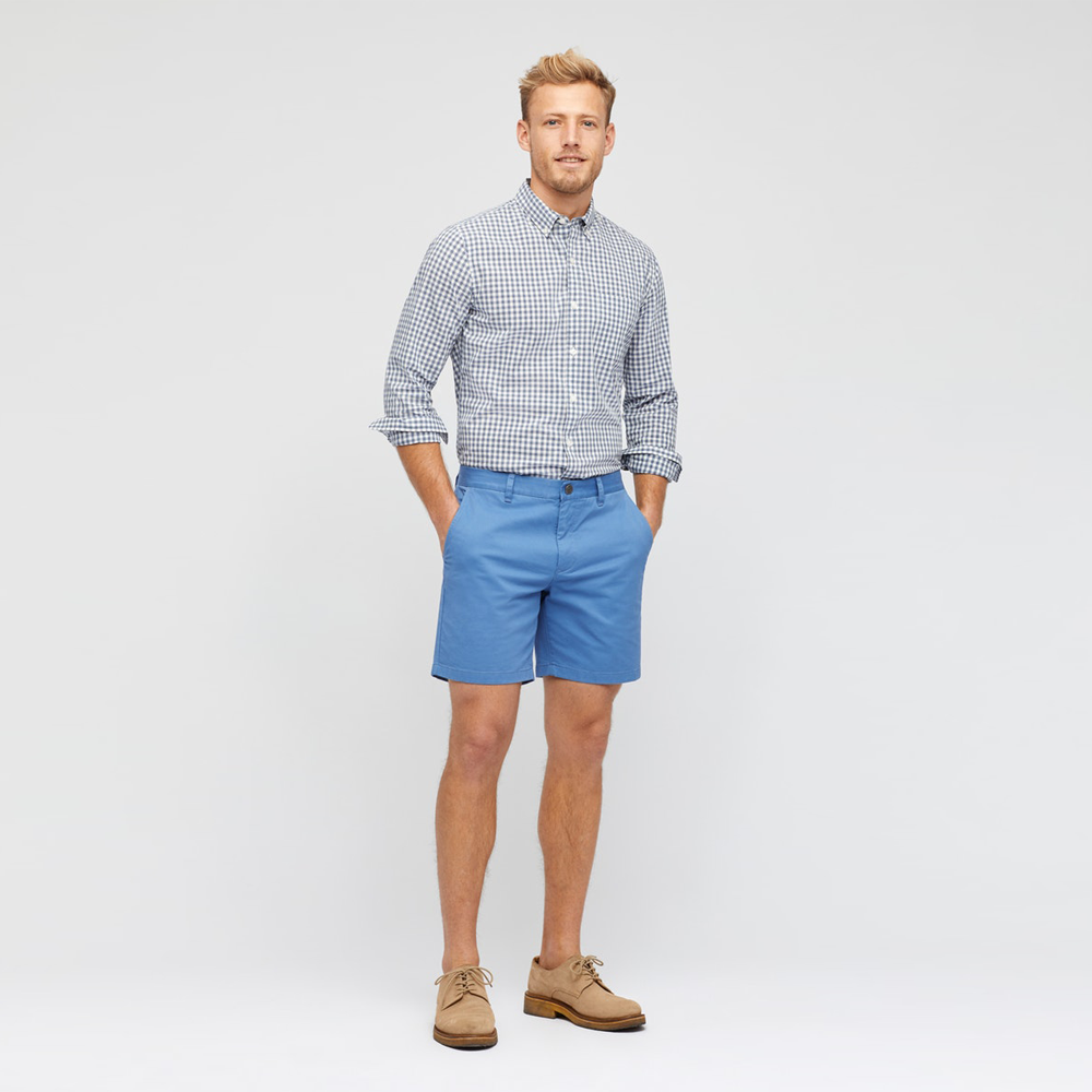Mens Bonobos Stretch Washed Chino Short in Royal Quarters - Brother's on the Boulevard