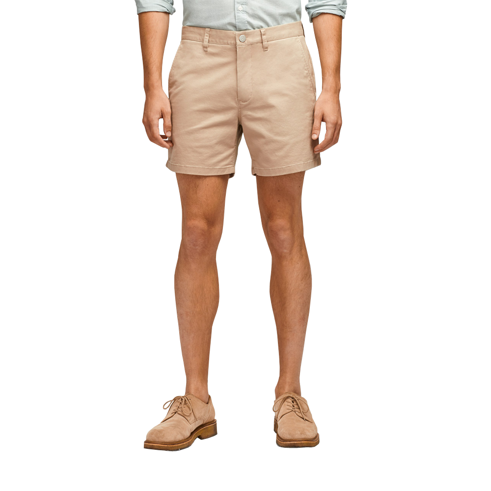 "Womens Bonobos Stretch Washed Chino 9"" Shorts in Khaki - Brother's on the Boulevard"