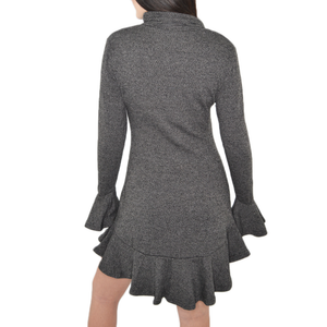 Womens Catherine Kate Exotic Mari Frill Dress in Grey - Brother's on the Boulevard