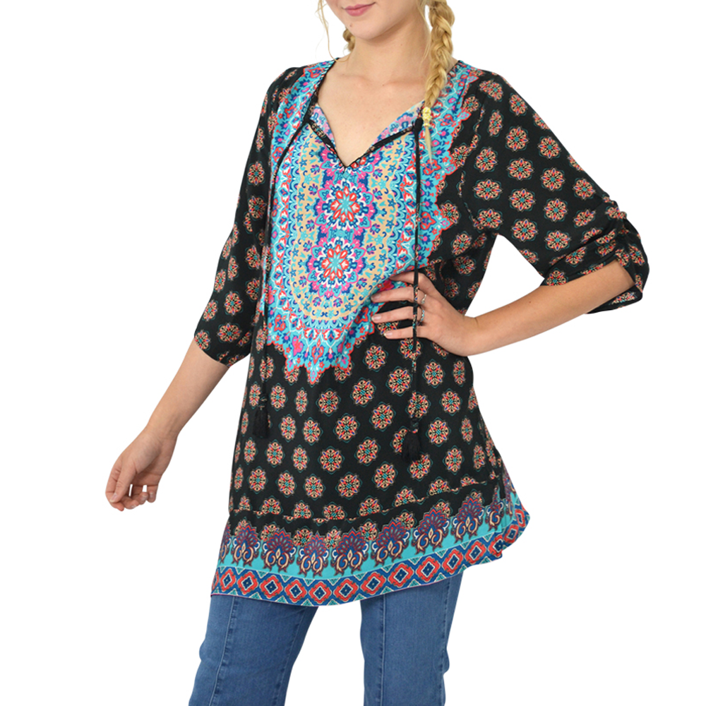 Tolani Tunic Print in Black