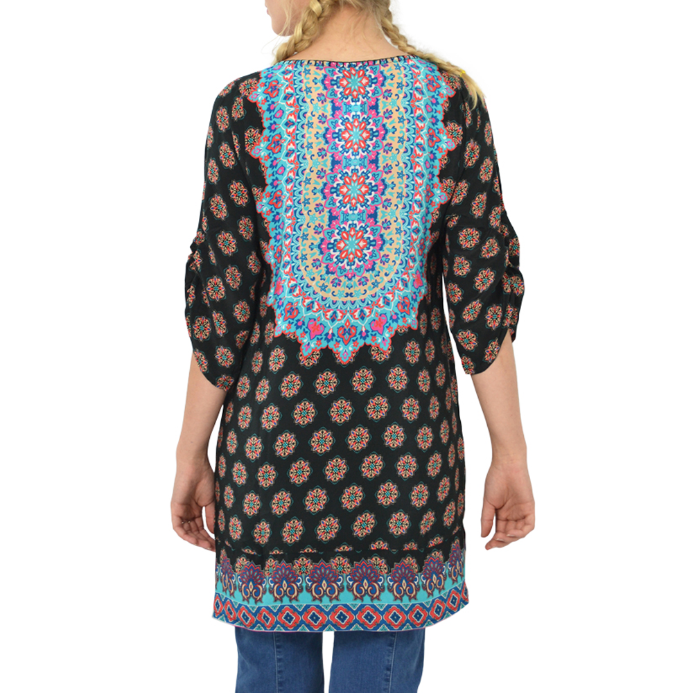 Womens Tolani Tunic Print in Black - Brother's on the Boulevard