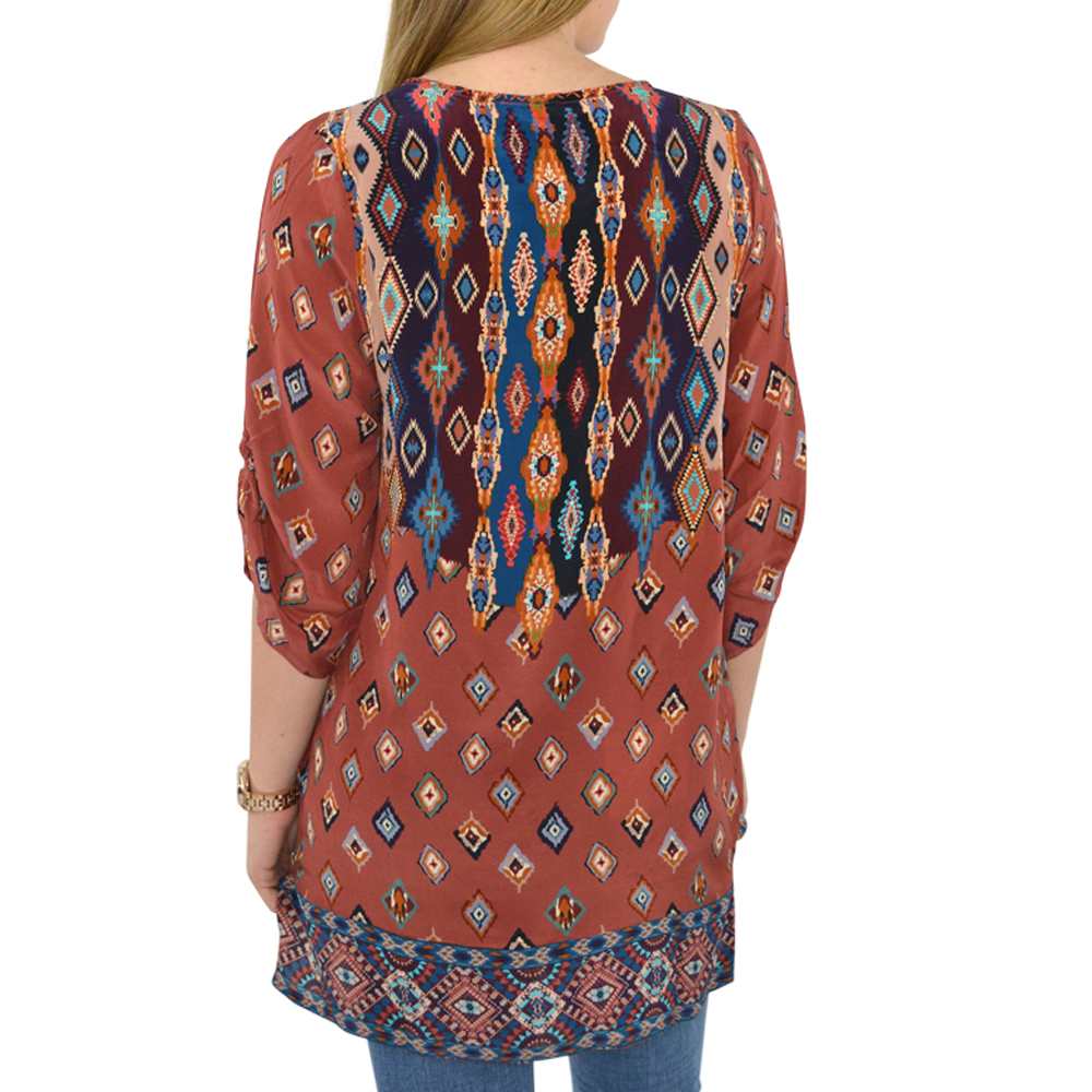 Womens Tolani Saylor Tunic in Rust - Brother's on the Boulevard