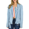 Womens Fifteen Twenty Chambray Denim Moto Jacket - Brother's on the Boulevard