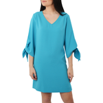 Fifteen Twenty Tie Sleeve Shift Dress in Sky Blue