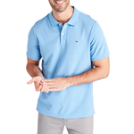 Vineyard Vines Stretch Picque Solid Polo in Navy