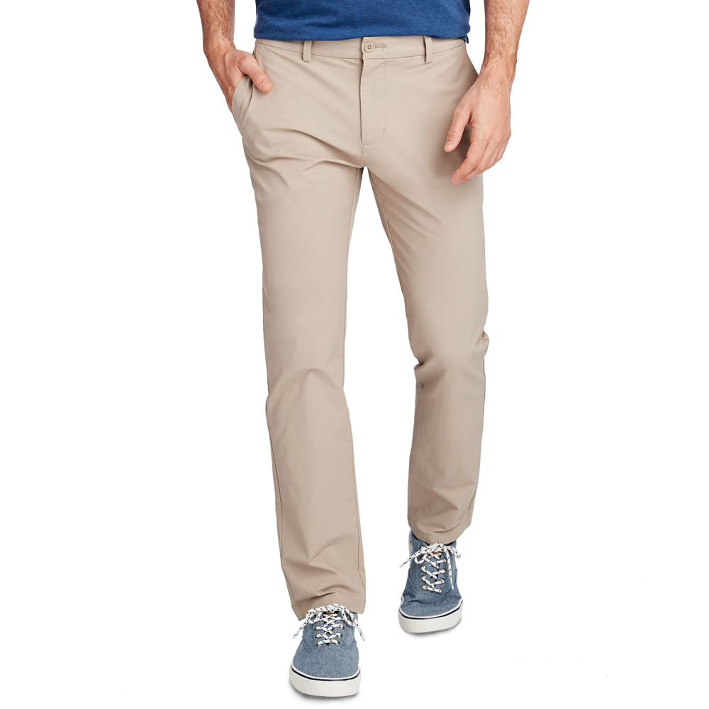 Vineyard Vines On-The-Go Slim Performance Pant in Khaki