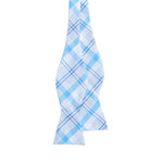 Mens Vineyard Vines Stony Bay Plaid Woven Bow Tie in Ocean Breeze - Brother's on the Boulevard