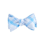 Vineyard Vines Stony Bay Plaid Woven Bow Tie in Ocean Breeze