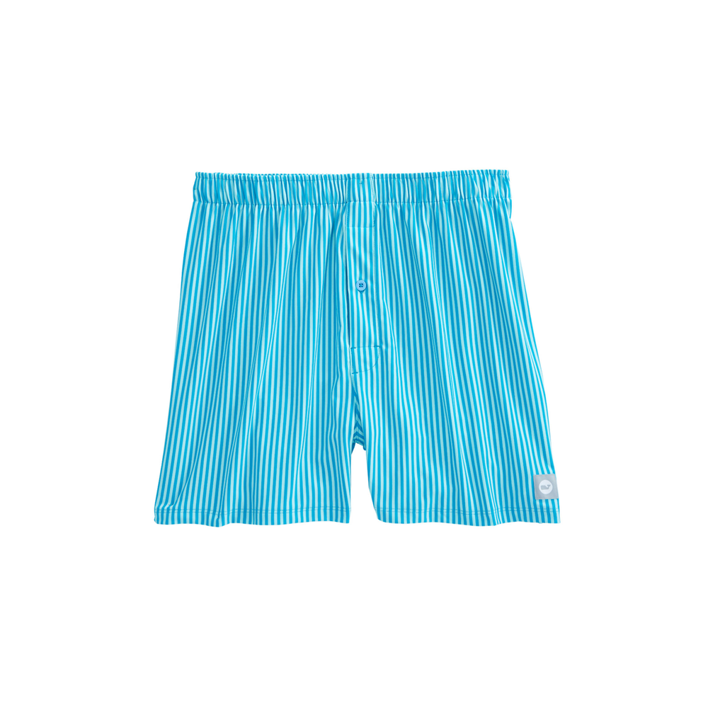 Mens Vineyard Vines Kennedy Stripe Performance Boxers in Island Blue - Brother's on the Boulevard