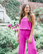 Three Eighty Two Liliana Strapless Jumpsuit in Tulip