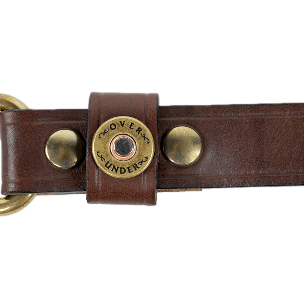 Mens Over Under Cannon's Point Single Shot Belt in Brown - Brother's on the Boulevard
