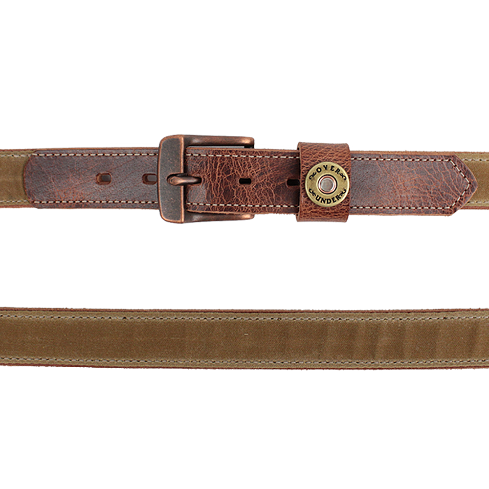 Mens Over Under The Waxed Canvas Belt in Tan - Brother's on the Boulevard
