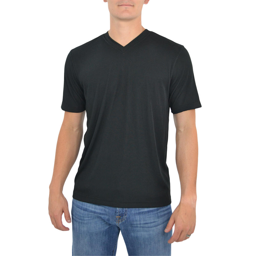 Tulliano Viena V-Neck Tee in Black
