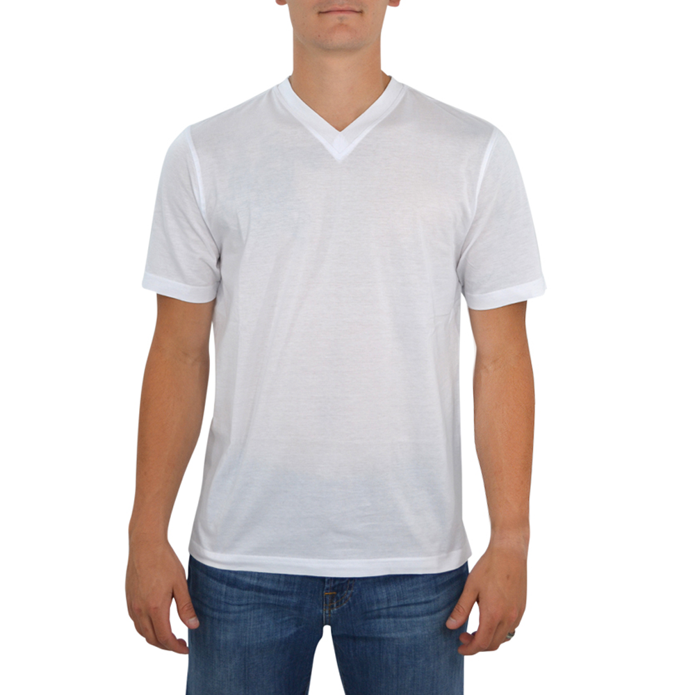 Tulliano Russini V-Neck Tee in White
