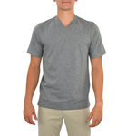 Tulliano Russini V-Neck Tee in Ash