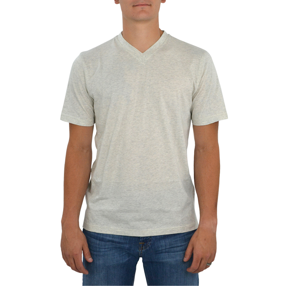 Tulliano Russini V-Neck Tee in Natural