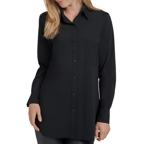 Womens Lysse Schiffer Button-Down Top in Black - Brother's on the Boulevard