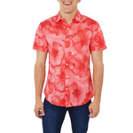 Bonobos Short Sleeve Riviera Slim Fit Button Down in Coral Floral