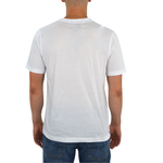 Mens Tulliano Russini V-Neck Tee in White - Brother's on the Boulevard