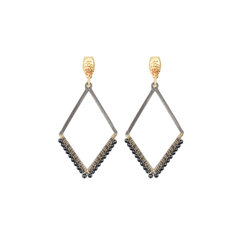 Womens Nicole Leigh Haven Earring in Hematite - Brother's on the Boulevard
