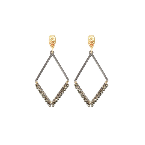 Womens Nicole Leigh Haven Earring in Pyrite - Brother's on the Boulevard