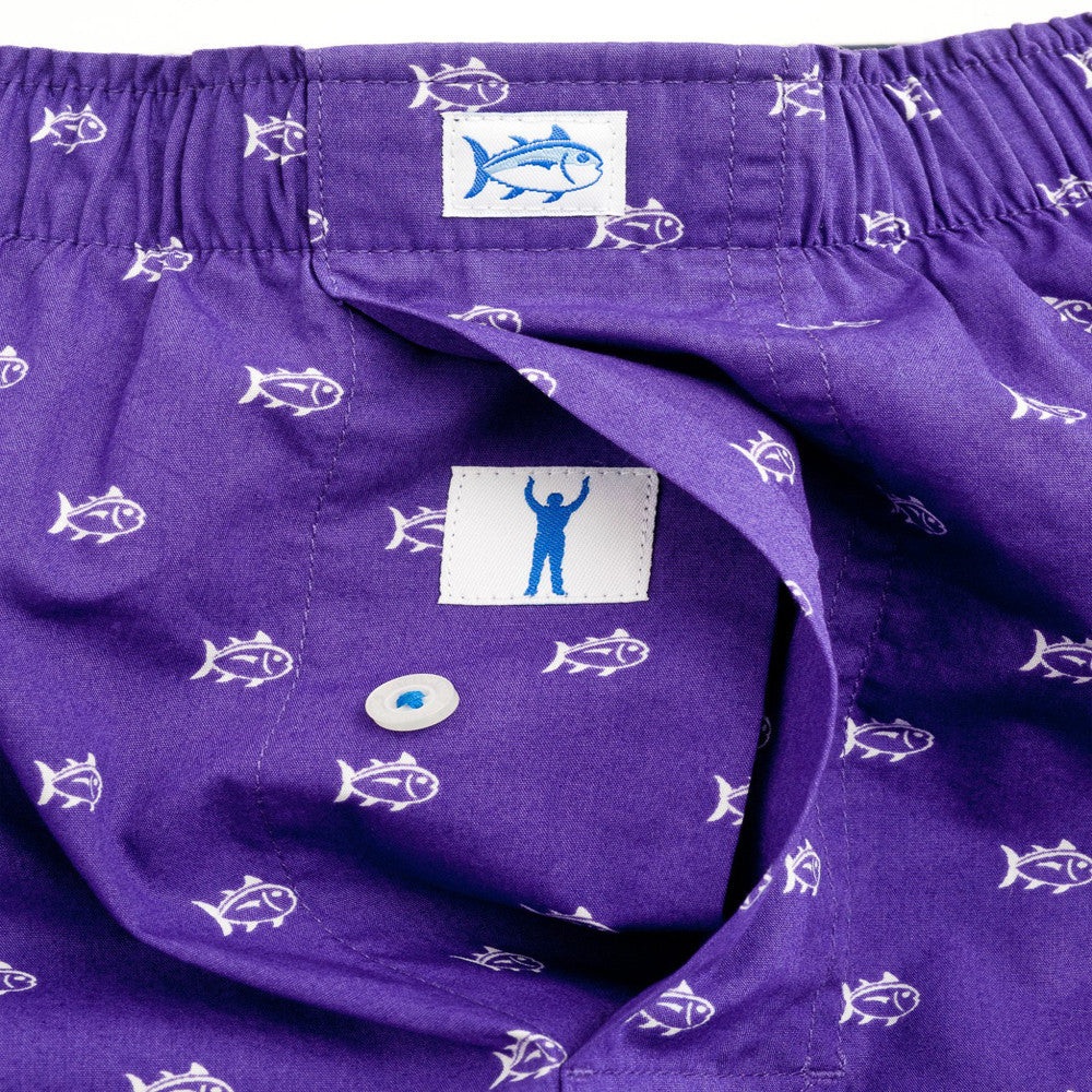 Mens Southern Tide Gameday Skipjack Boxer in Regal Purple - Brother's on the Boulevard
