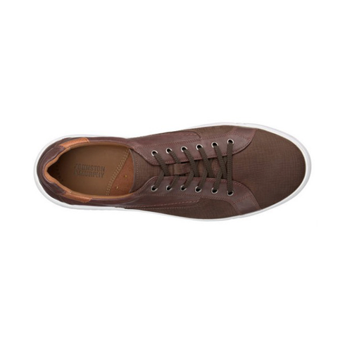 Mens Johnston & Murphy McFarland Lace-to-Toe Sneakers in Brown - Brother's on the Boulevard