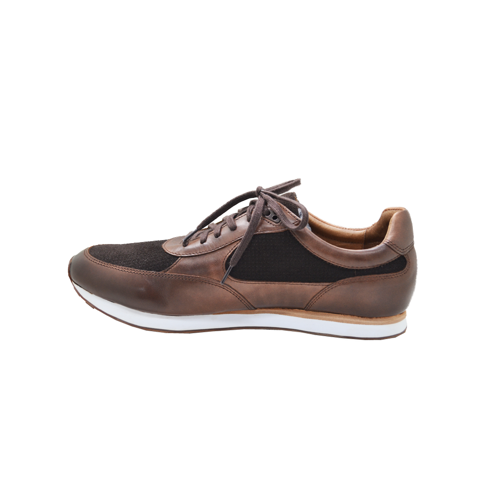 Mens Johnston & Murphy Malek Jogger Sneaker in Mahogany - Brother's on the Boulevard