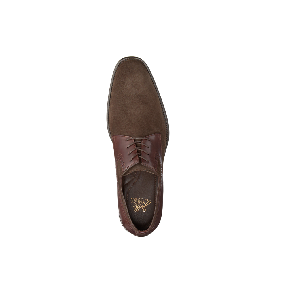 J&M 1850 Maxwell Plain Toe in Dark Brown