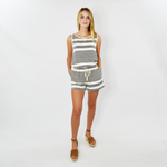 Womens Michael Stars Kylie Striped Romper in Chalk - Brother's on the Boulevard