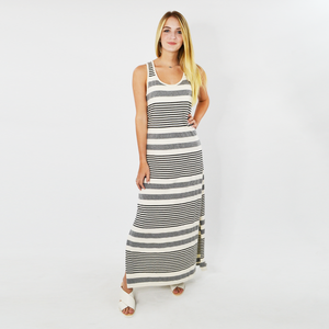 Womens Michael Stars Isabelle Striped Maxi Dress in Chalk - Brother's on the Boulevard