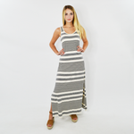 Michael Stars Isabelle Striped Maxi Dress in Chalk