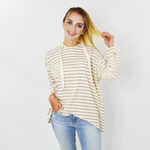 Fifteen Twenty Asymmetric Hoodie in Stripe
