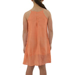 Tween Girls Weekend Vibes Girls Woven Dress in Orange - Brother's on the Boulevard