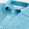 Southern Tide Bayview Plaid Intercoastal Performance Shirt in Mint