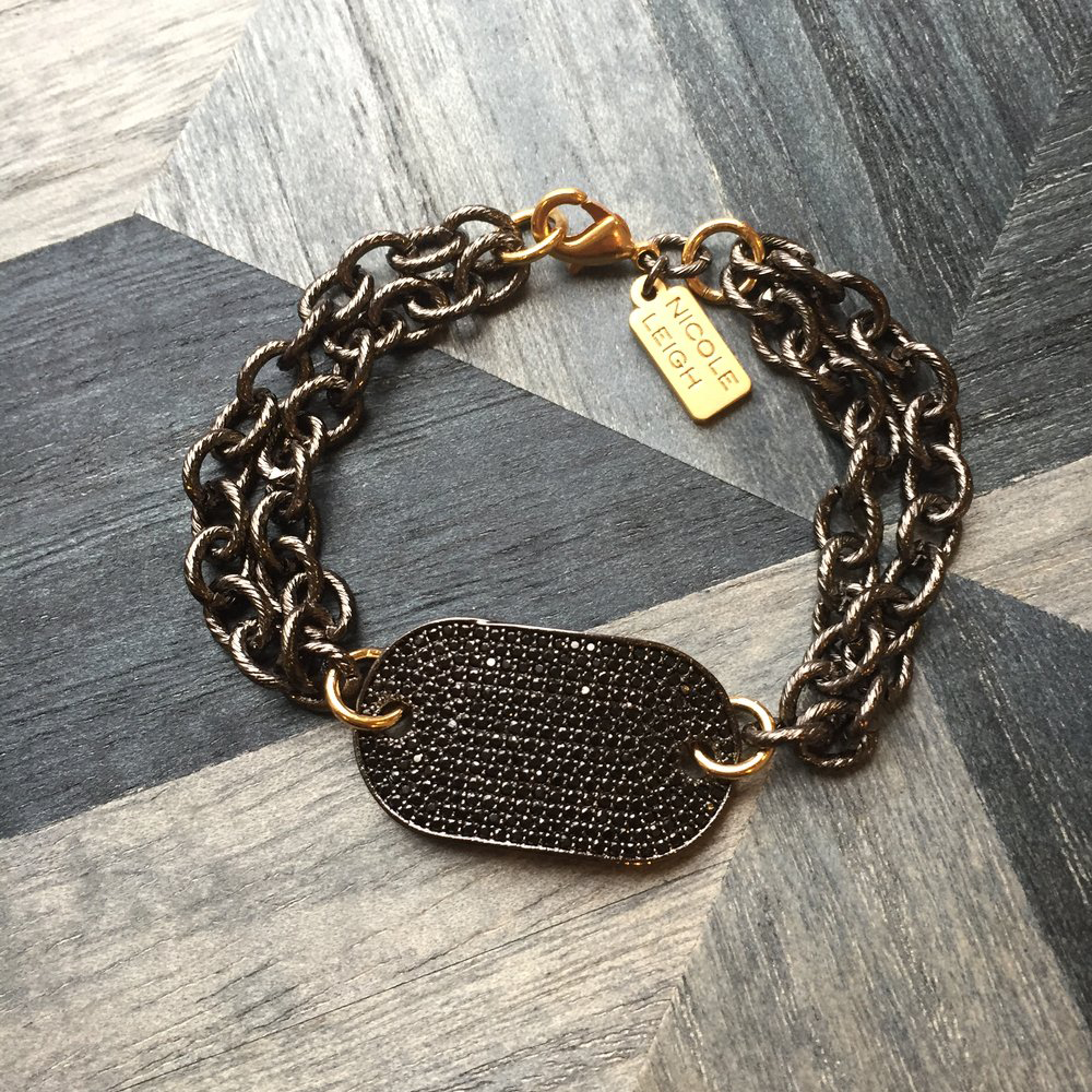 Womens Nicole Leigh Gold Tasha Bracelet in Gold - Brother's on the Boulevard