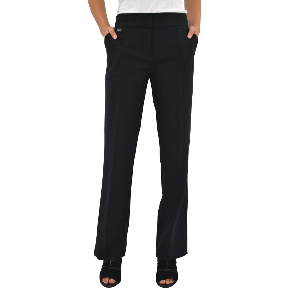 Womens Lisette L Zip Front Pant in Black - Brother's on the Boulevard