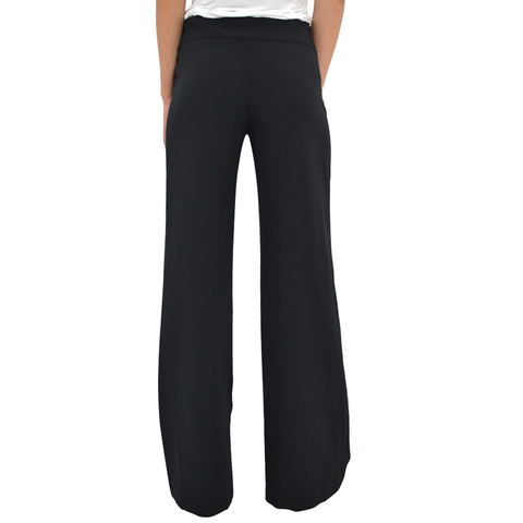 Womens Lisette L Zip Front Trouser in Black - Brother's on the Boulevard